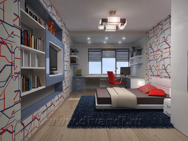 Дизайн комнаты для мальчика 15 лет