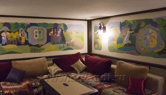 Дизайн комнаты отдыха в сауне