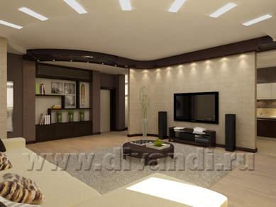 Дизайн интерьера: Гостиная.