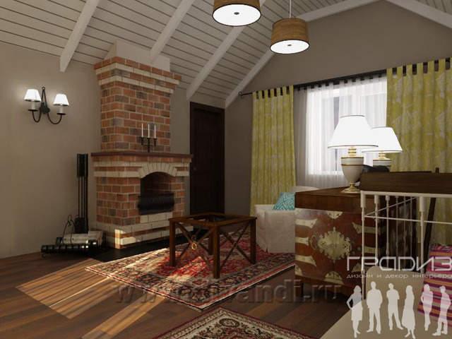 Дизайн интерьера: Декор мансарды.