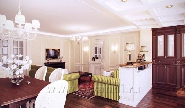Дизайн интерьера: Квартира в стиле.
