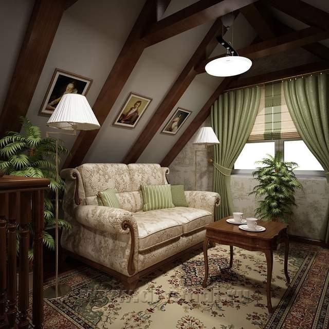 фото дизайн мансарды фотогалерея интерьера в частном доме