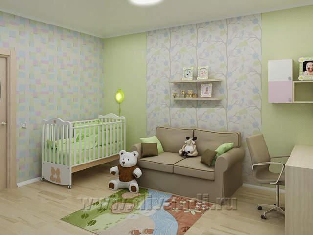 Дизайн однокомнатной квартиры с нишей ребенок