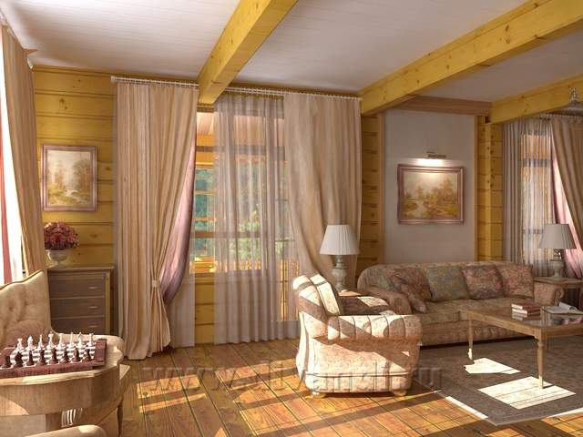 Гостиная в загородном доме дизайн фото