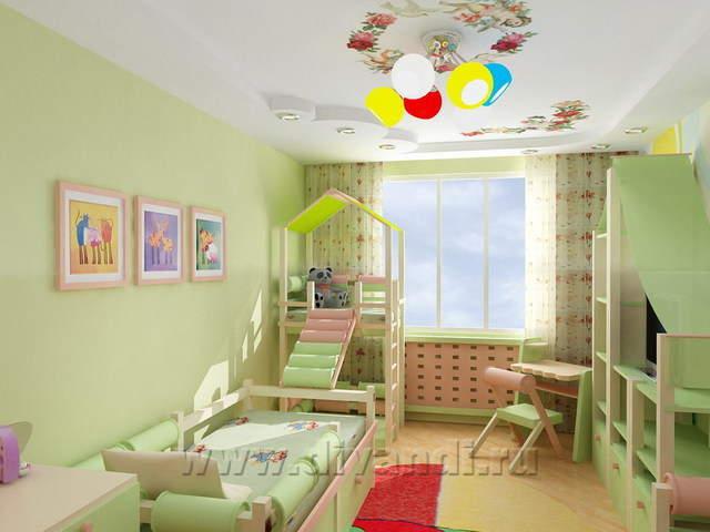 Дизайн интерьера детской комнаты екатеринбург.