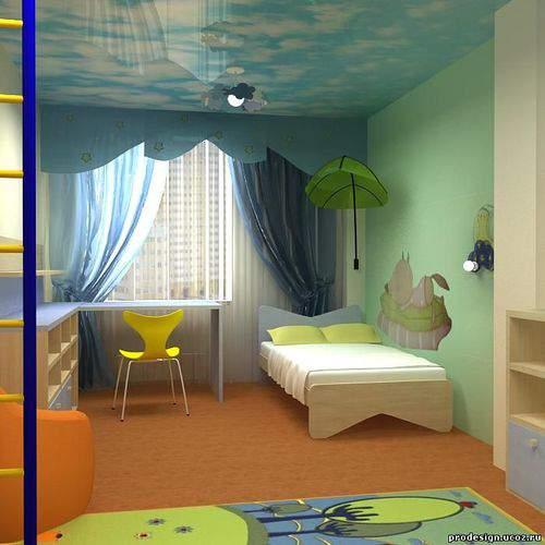 Дизайн детская комната 3 4