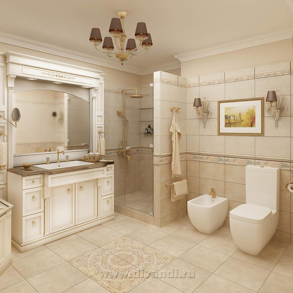 Интерьер ванны в классическом стиле фото