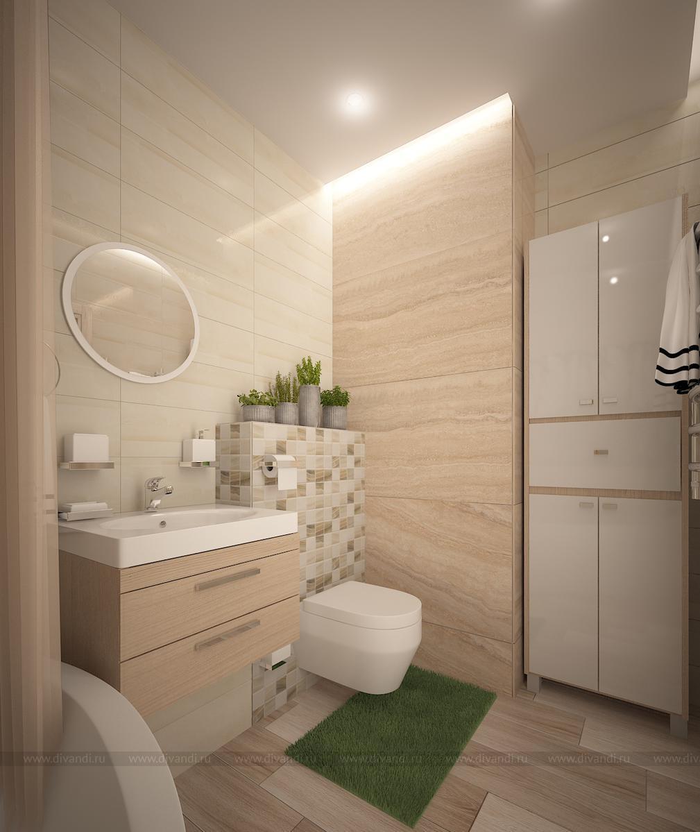 ванная комната в эко стиле дизайн студия Panamera диванди