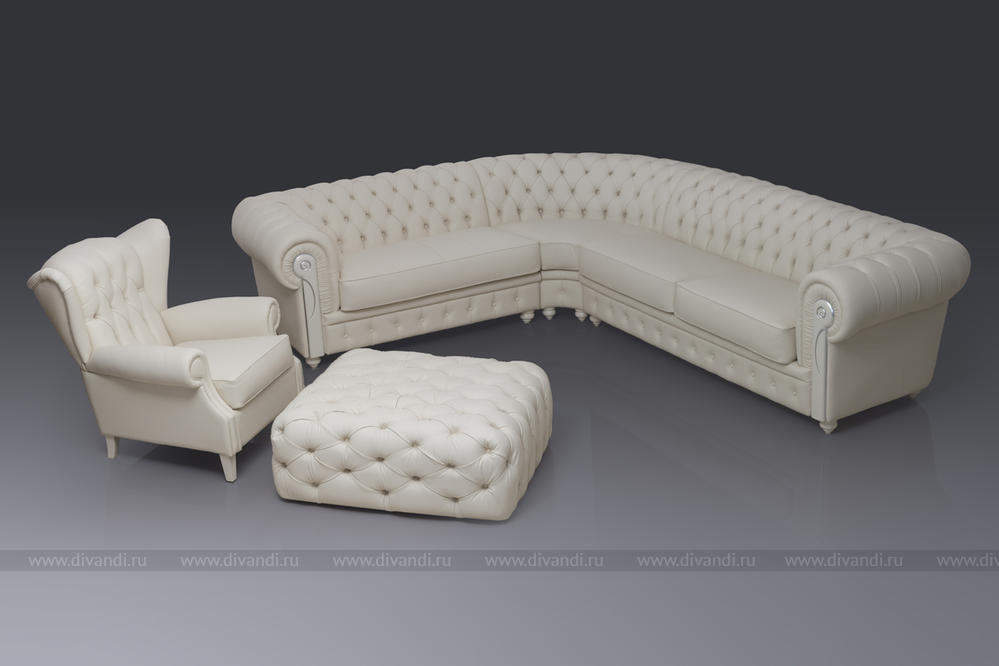 угловой диван честер фото