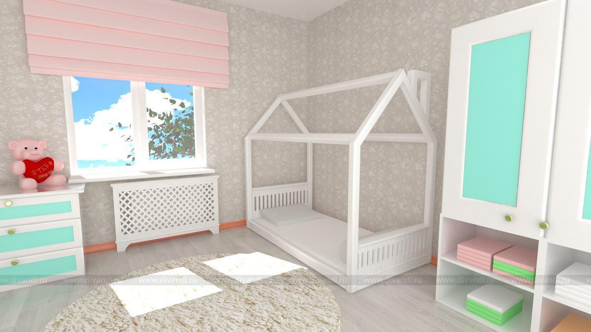 Детская кровать домик для девочки своими руками 28