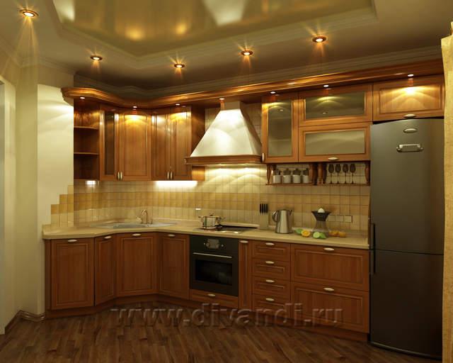 Кухня классика – фото размеры и