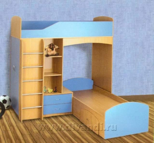 Схема двухъярусной кровати с диваном боровичи