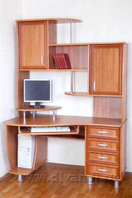 Компьютерный стол Авангард - фото, размеры и подробное описание