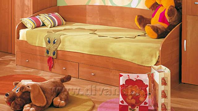 Кровать подростковая с выдвижными ящиками из натурального дерева Ольга. Добавлено: в 20:22, 25 января 2015