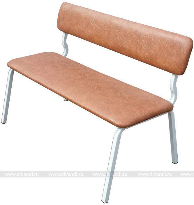 Мягкая скамейка со спинкой